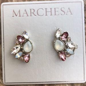 Marchesa Cluster Earrings NWT